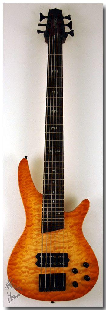 six string bass guitar | PRO QUILTED HONEYBURST 6 STRING ACTIVE BASS GUITAR