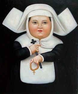 Nun, por Fernando Botero (Colômbia)):
