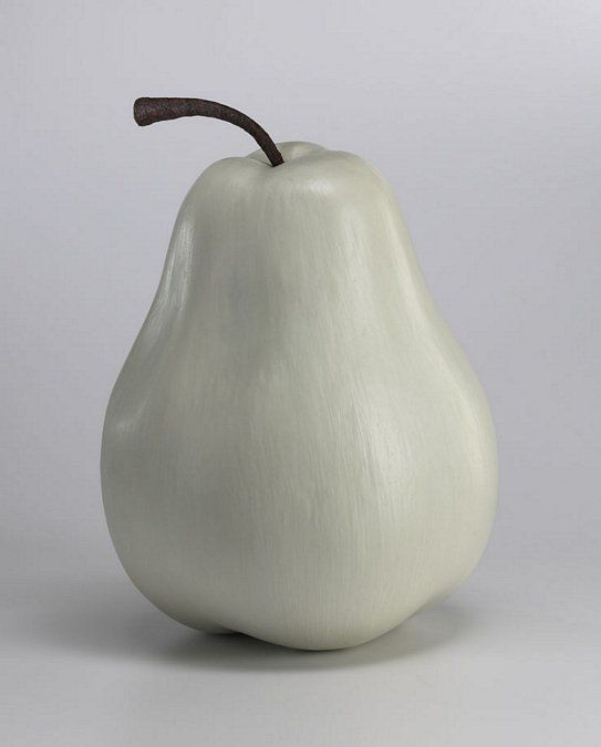 """Oversize Pear 12"""" W x 16.5"""" H- $90  Cherry and Apple also available."""