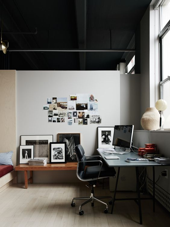 Work space in photographer Pia Ulin's stunning Brooklyn loft, via http://www.scandinavianlovesong.com/