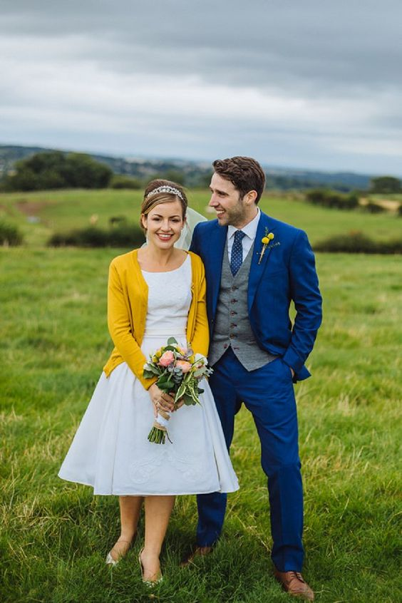 Blue Mustard Wedding Inspiration   Mustard, Couples and Cake
