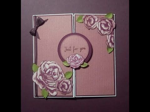 How To Make A Magic Window Card Window Cards Card Craft Folded Cards