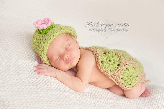 Schildkröte, grün | Babysachen häkeln/stricken | Pinterest