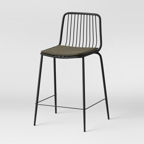 Set Of 2 Sodra Square Seat Wire Counter Stool Project 62