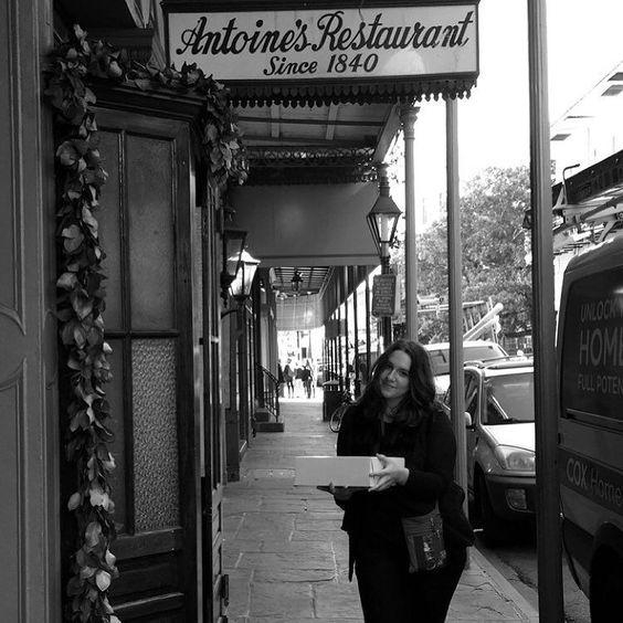 I'm so fucking cute  #cute #nola #neworleans #antiones #champagne #cake #kings #frenchquarter #burbon #oldest restaurant in America by natasharosecarlisle