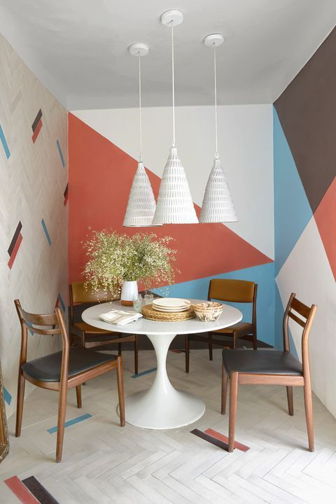 These Geometric Wall Ideas Are The Epitome Of Cool Home Decor Geometric Decor Geometric Wall Paint