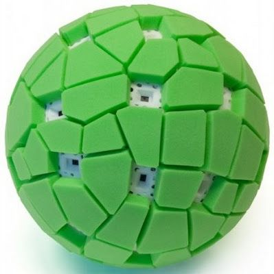 Panoramic Camera Ball. Throw it up in the air, and when it reaches its peak, it takes a picture out of each of its 36 camera's, and you can go onto a computer to view the panoramic picture you just took.