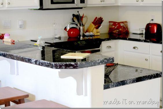 Countertop Paint Tutorial : redone countertops ugly countertop budget countertop countertops paint ...