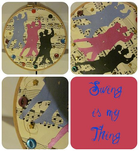 Swing is my thing embroidery hoop