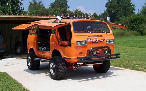 retro van graphics | eBay Find: Custom 1966 Chevrolet Van-based Agent Orange | Modified ...