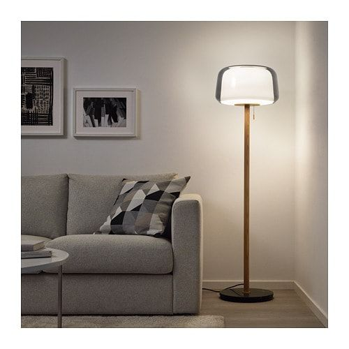 Evedal Golvlampa Marmor Gra Gra Ikea Floor Lamp Grey Floor Lamp Lamps Living Room