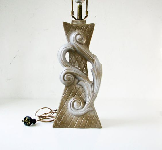 Mid Century Modern Table Lamp  Ceramic Lighting by BeeJayKay