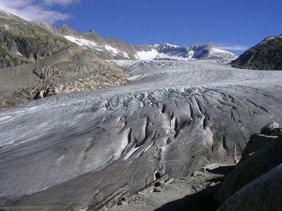 Switzerland: The Rhone Glacier (Glacier du Rhône)
