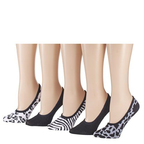 Tipi Toe Women`s 5 or 15 Pack Colorful Patterned Foot Liners
