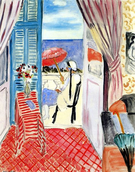 Woman with a Red Umbrella, Seated in Profile.   Henri Matisse (French, 1869-1954).