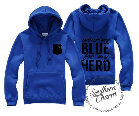 Southern Charm Designs Wearing Blue For My Hero Hoodie