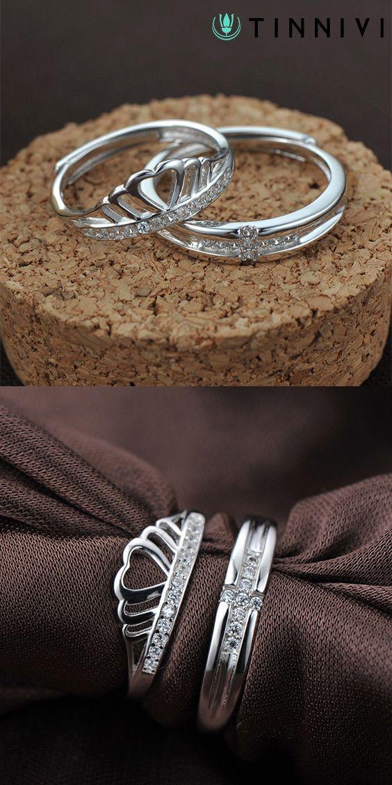 5 mm round white Sapphire CZ Ring Set De Couple Anneaux De Mariage Band Fashion Jewelry