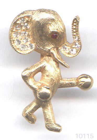 Boxing Elephant pin