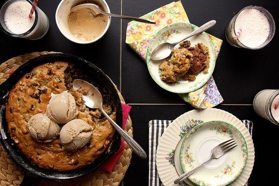 banana walnut chocolate cookie cake by joy the baker, via Flickr