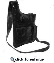 Border Leather Slim Genuine Leather Shoulder Bag