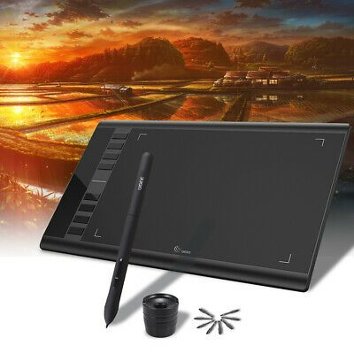 Drawing Tablet 8192 Pressure Battry-Free Pen Ugee M708 10 x 6 Graphics Tablet