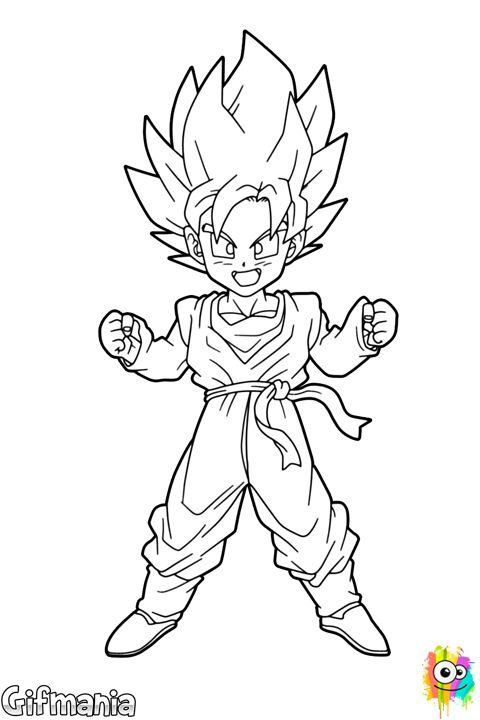 Goten Super Saiyajin Gifig Pins Pinterest Goku super