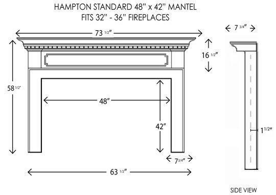 48x42hampton Jpg Wood Fireplace Mantel Fireplace Mantel Surrounds Wood Fireplace