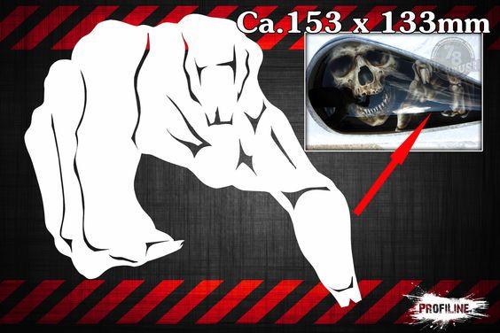 Skelett Hand Airbrush Schablone - Skeleton Hand Stencil | SK-Brush - Fachgeschäft und Custompaint Studio für Airbrush & Pinstriping