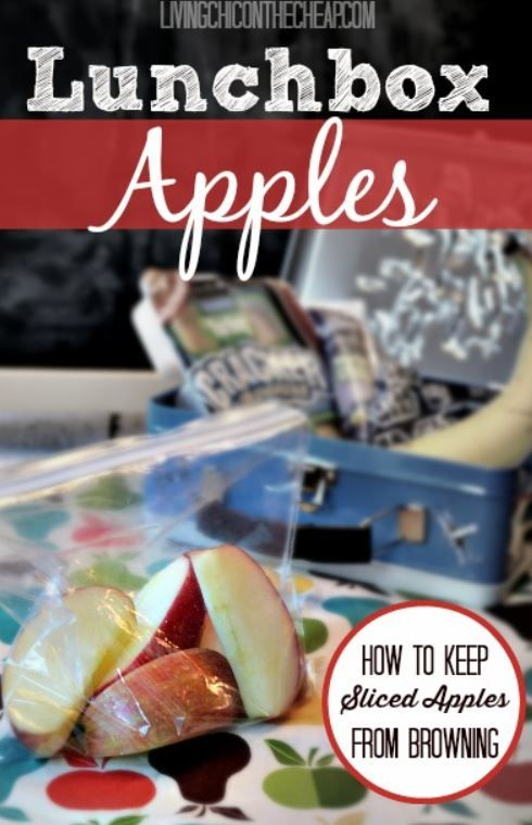 Tired of spending money on over-priced packaged sliced apples for your kid's lunchbox. Check out this Lunchbox apples tutorial. Keep apples from browning