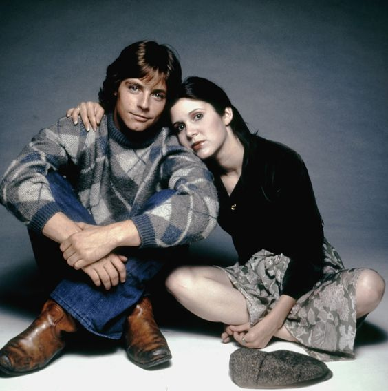 Mark Hamill and Carrie Fisher, 1977: