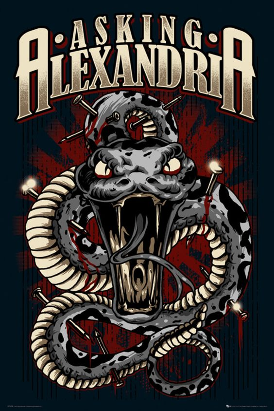 Asking Alexandria Snake - Official Poster: