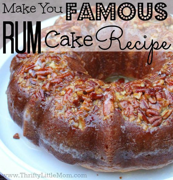 Rum cake, Rum and Cakes on Pinterest