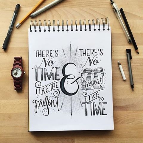 "There's no #time like the #present. There's no present like time. By @kimpanella. | Tag us and use ""#50words"" for a regram 