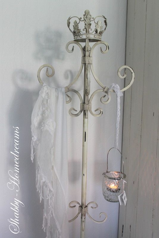 Crown. Chippy, Shabby Chic, Whitewashed, Romantic, Cottage, French Country, Rustic, Swedish decor Idea. ***Pinned by oldattic ***.