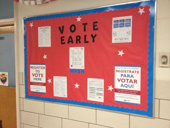 Voter registration bulletin board: Registration Bulletin, Bulletin Boards, Voter Registration