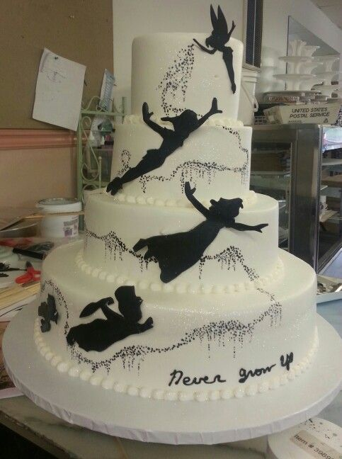 peter pan and tinkerbell wedding cake the world s catalog of ideas 18305