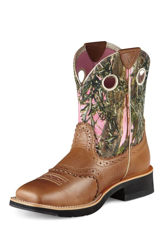 Ariat Fatbaby Pink Camo Square Toe $99.95 Free Shipping ...