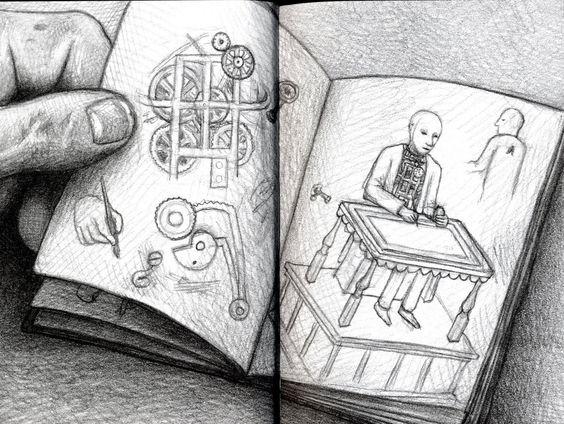 Dibujando Arquitecturas Brian Selznick El Paris Para Niños De Hugo Cabret Hugo Cabret Book Illustration Sketch Painting