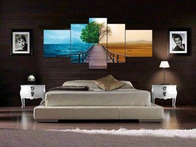 cuadros para dormitorios modernos elegantes …  Pinterest