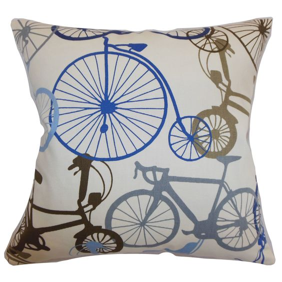 The Pillow Collection Echuca Bicycles Cushion Throw Pillows Pillow Collection Pillows