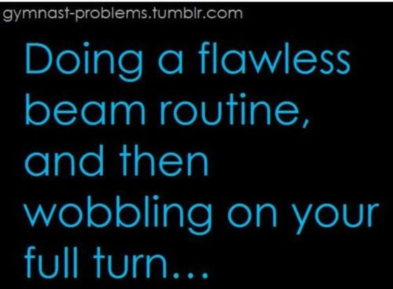 or doing a pretty good beam routine at state and wobble on a pibit pibit