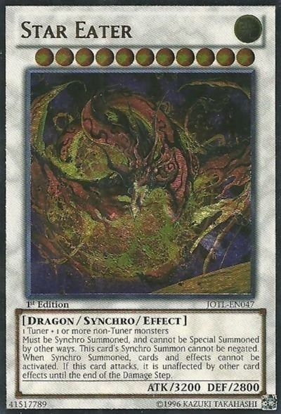 YuGiOh! Star Eater JOTL-EN047 Ultimate Rare 1st Edition Mint! Fast Shipping