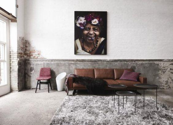 Ledercouch * Wohninspiration * Ideen fürs Wohnzimmer