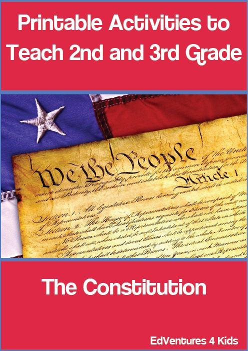 Constitution Day for 2nd and 3rd graders is a perfect way to introduce your kids to the Constitution. Twenty plus printable activities explore the men and the making of the Constitution.