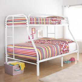 350 sears structure de lit superpos 1 place sur lit 2 places en m tal se - Lit supperpose enfant ...