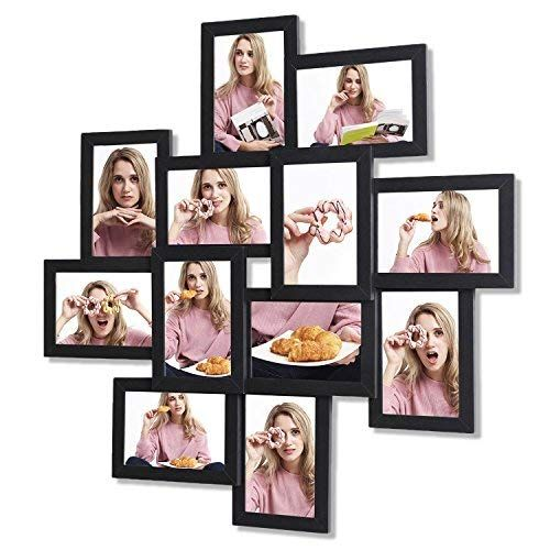Songmics Picture Frames Collage For 12 Photos In 4 X 6 For Wall Mounting Multiple Picture Fram Collage Picture Frames Multiple Picture Frame Picture Frame Sets