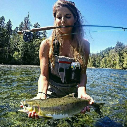 Fly fishing i loves pinterest nice it is and fishing for Fly fishing girls