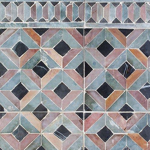 Baba Chic Mosaics Country Floors Of America Llc Stone Mosaic Floor Mosaic Limestone Tile