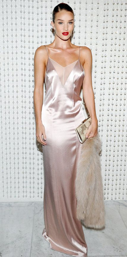 Look of the Day - Rosie Huntington-Whiteley - from InStyle.com