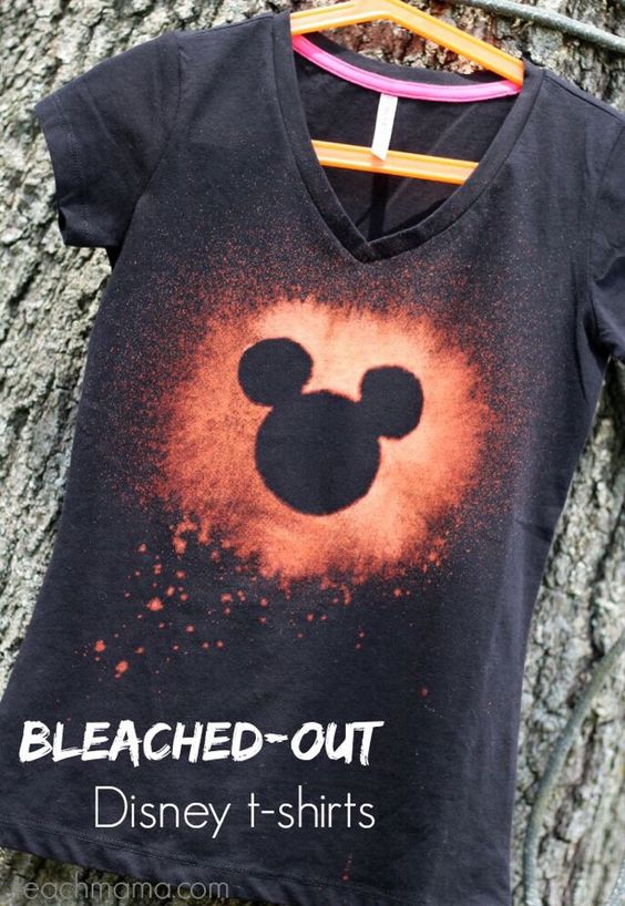 """DIY BLEACHED-OUT DISNEY T-SHIRTS"" #Home #Garden #Musely #Tip"
